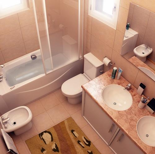 Banheiro Pequeno com Banheira  Casa e Projeto  Construdeiacom -> Banheiro Medio Com Banheira