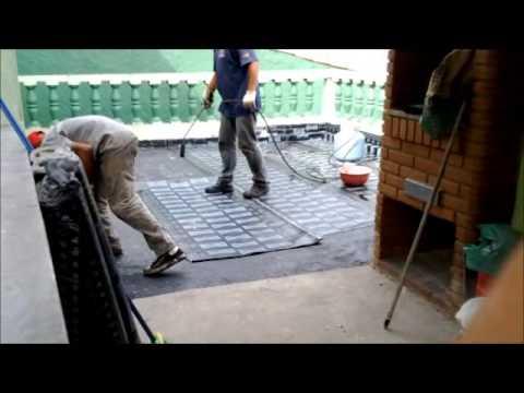 Como aplicar manta na laje