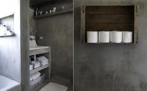 Banheiro Revestido de Concreto Aparente