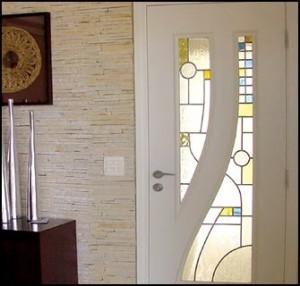 Porta de Madeira Vitral