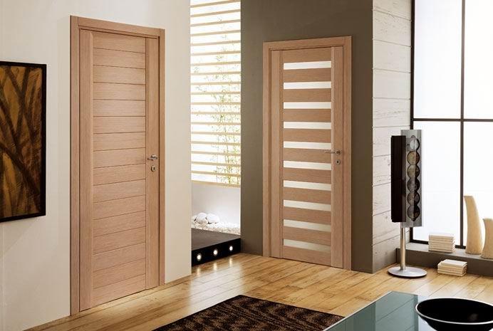 Modelo de porta para quarto frisada e madeira for Decoracion de marcos de puertas