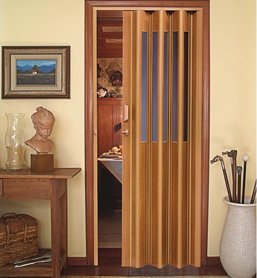 Porta Sanfonada para Banheiro  PVC e Madeira  Construdeiacom -> Banheiro Pequeno Com Porta Sanfonada