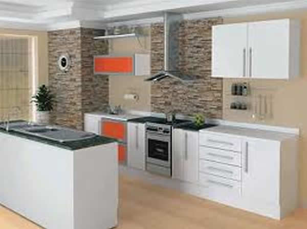 Revestimento para Cozinha Pequena  Pisos e Pastilhas  Construdeia