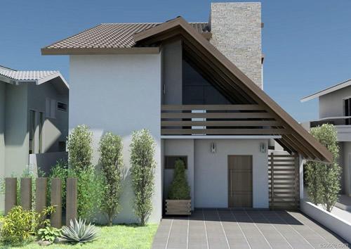 Fachadas de casas bonitas com telhados telhas e modernas for Fachadas de casas modernas 1 pavimento