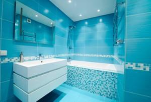 Piso para Banheiro Azul
