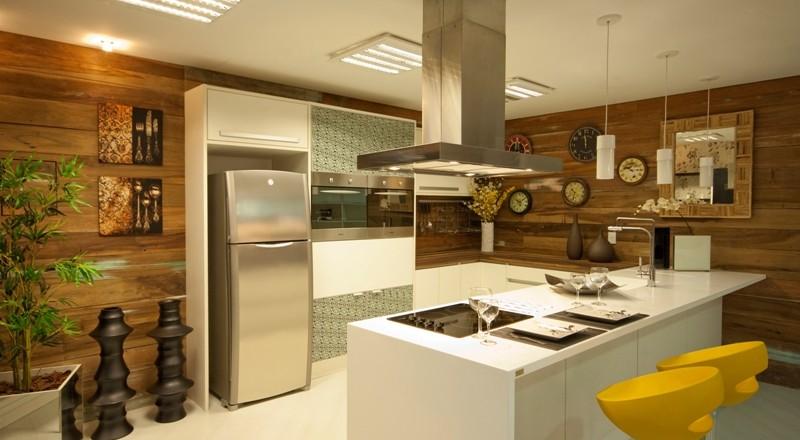 Aparadores Para Quarto De Casal ~ Cozinha com Madeira de Demoliç u00e3o Móveis e Revestimento Construdeia com