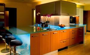 Balcão de Vidro para Cozinha