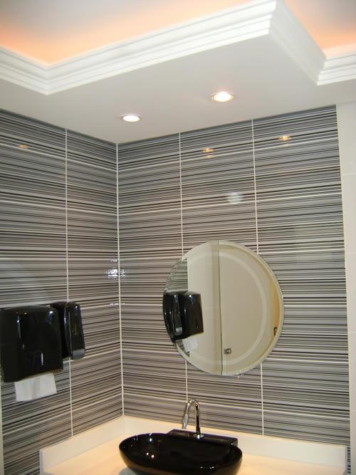 Gesso para Banheiro  Acabamento e Teto  Construdeiacom -> Decoracao De Banheiro Em Gesso