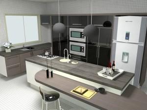 Interiores de Casas Cozinha