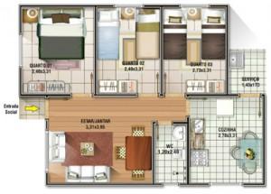 Casas com 3 Quartos