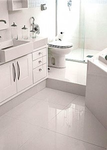Porcelanato Branco para Banheiro