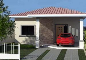 Fachada de Casa Pequena com Garagem